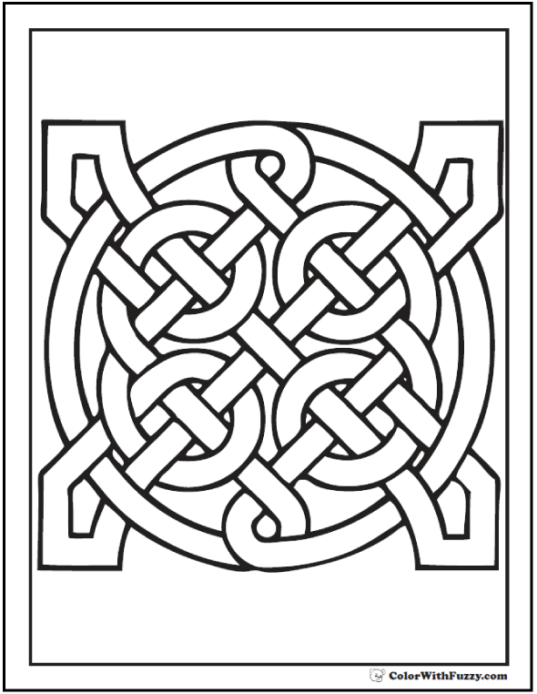 90 Celtic Coloring Pages Irish Scottish Gaelic Crafts
