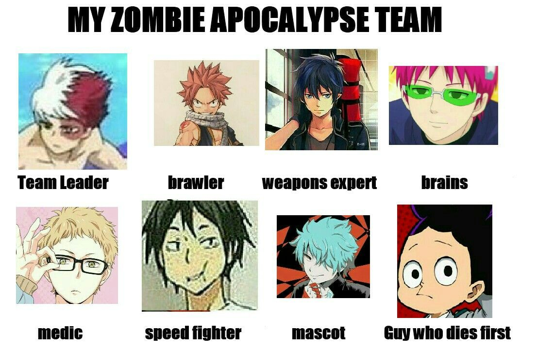 Rip Grape Juice Zombie Apocalypse Team Anime Quotes Manga Anime