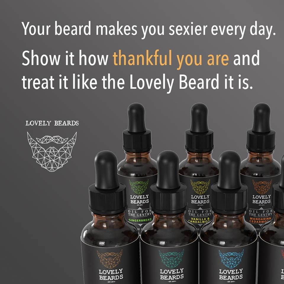 We're thankful for beards and Lovely Beards Oils & Balms.
