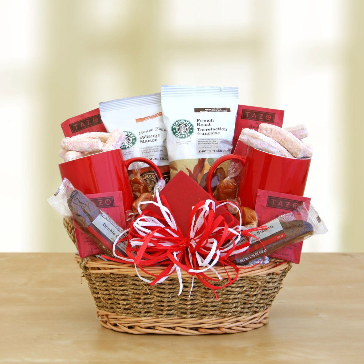 Sharing Starbucks Gift Basket Starbucks gift baskets