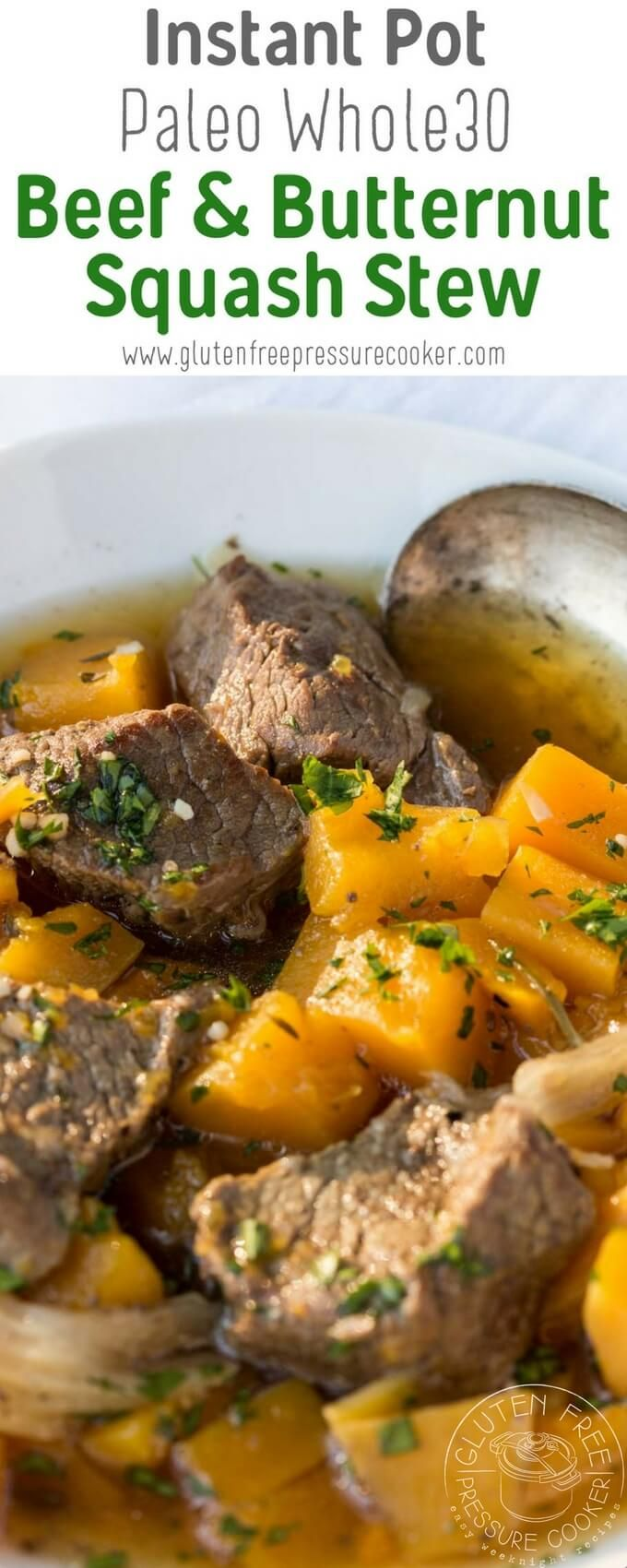 This Pressure Cooker Beef And Butternut Squash Stew Is An Easy