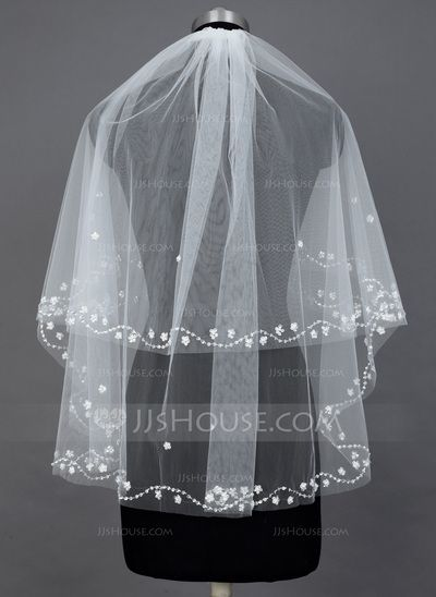 Wedding Veils - $21.99 - Two-tier Elbow Bridal Veils With Cut Edge (006034205) http://jjshouse.com/Two-Tier-Elbow-Bridal-Veils-With-Cut-Edge-006034205-g34205