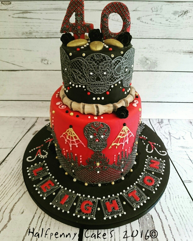 Da De Muertos Day Of The Dead Chocolate Cake Dayofthedead Cake