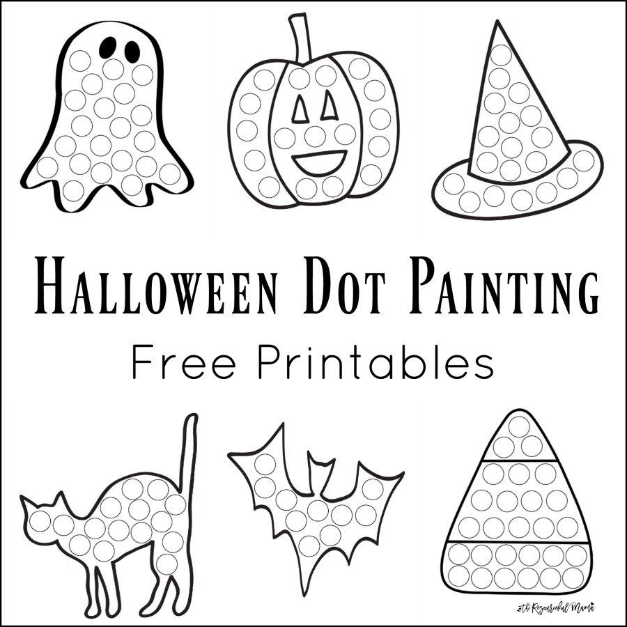 worksheet Preschool Halloween Worksheets halloween dot painting free printables activities the resourceful mama