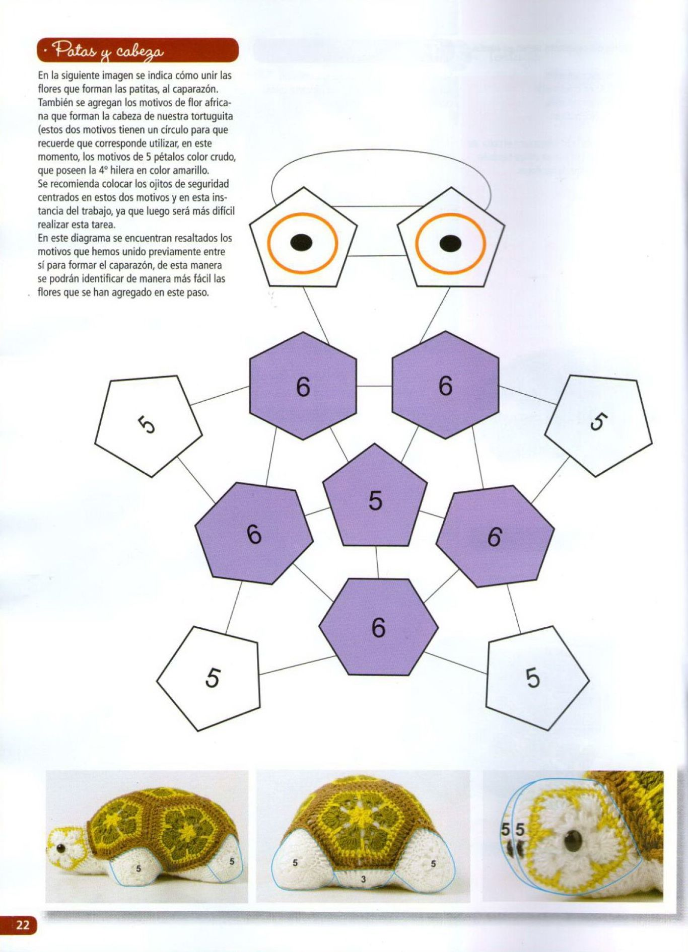 African Flower Turtle - FREE pattern 3/4 (not in English) | [c ...