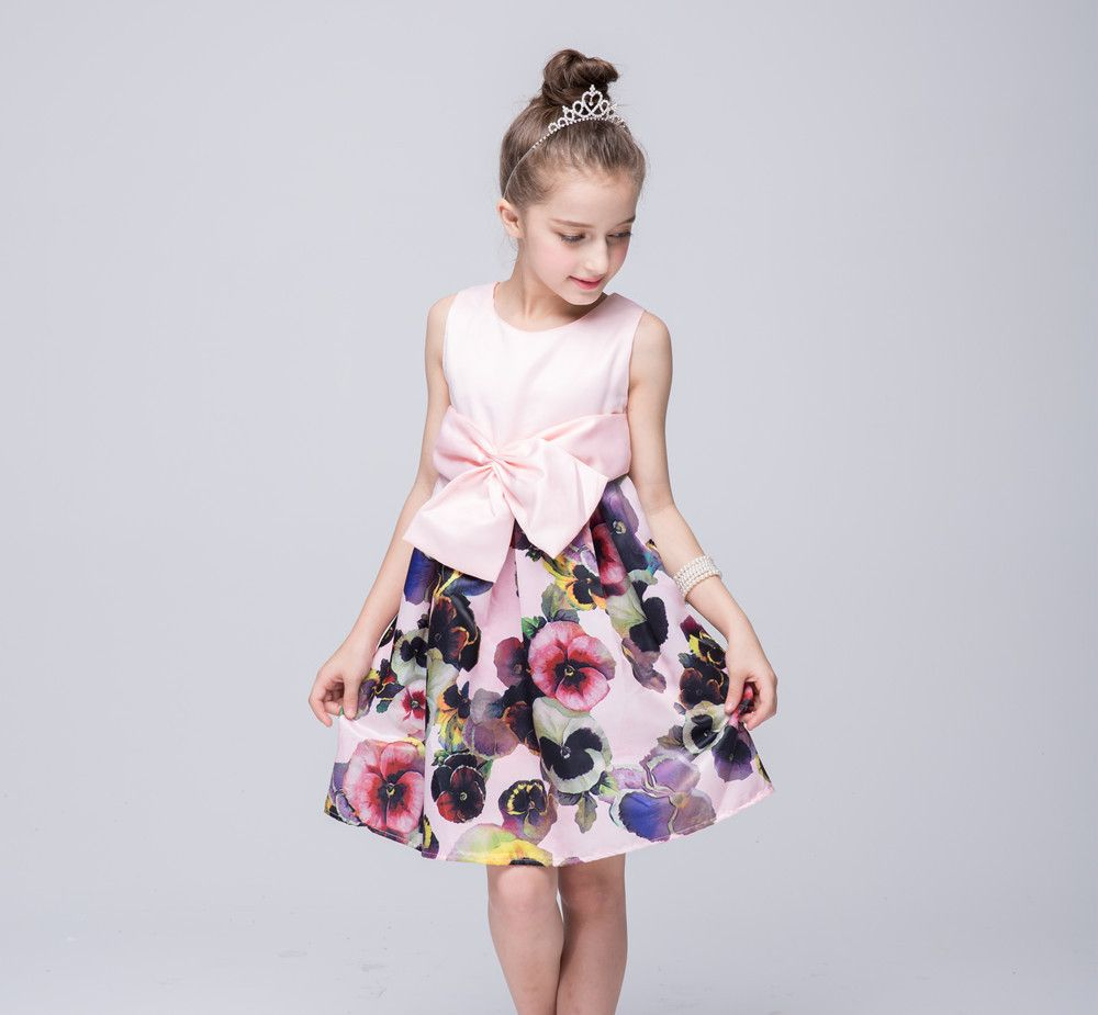 Click to Buy << Girl Dress 2017 Summer New Floral Baby Girl Dress ...