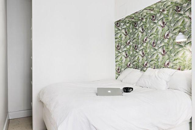 Behang Voor Slaapkamer : Nis jungle behang slaapkamer slaapkamer inspiratie
