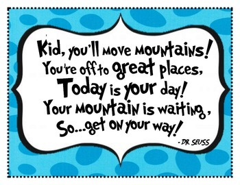 Oh The Places You Ll Go Dr Seuss Inspirational Poster