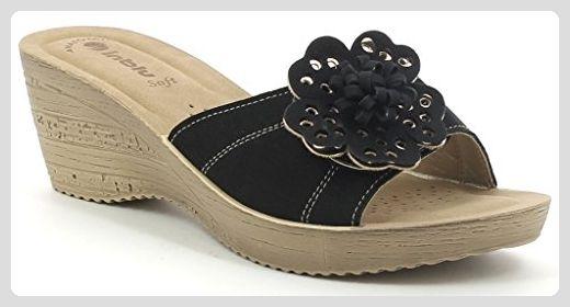 INBLU , Damen Sandalen schwarz schwarz 35 EU, schwarz