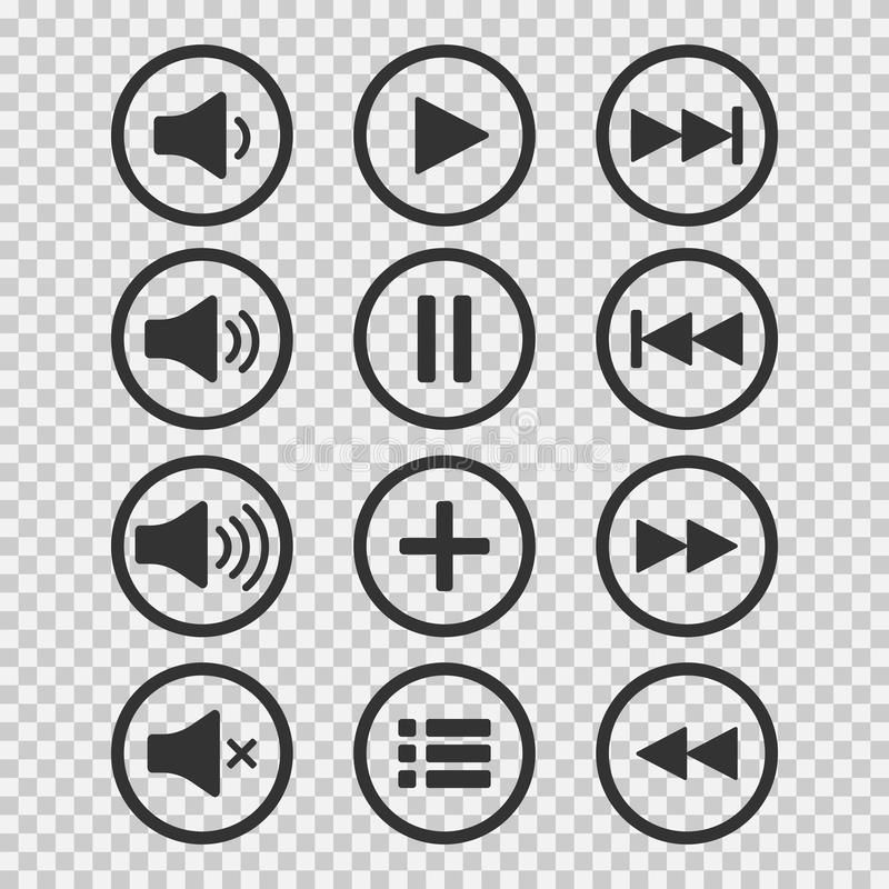 Audio Icons Sound Buttons Play Button Pause Sign Symbol For Web Or App Vect Sponsored Buttons Pla Poster Background Design Symbols Overlays Picsart