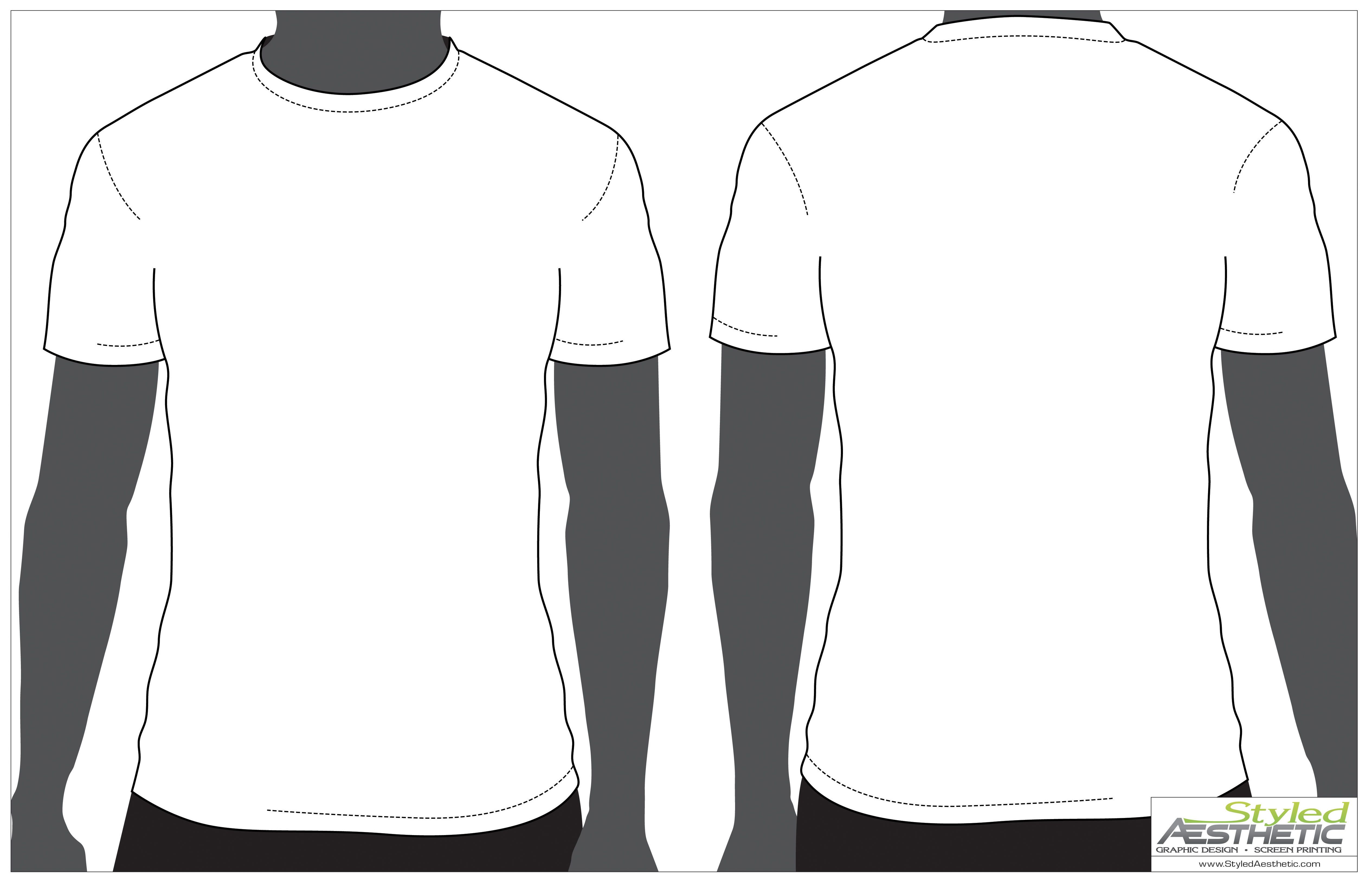 Black t shirt vector front and back - T Shirt Template