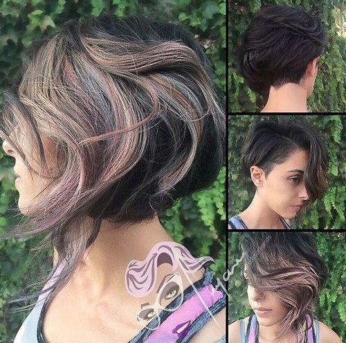 40 on trend balayage short hair looks short asymmetrical haircut