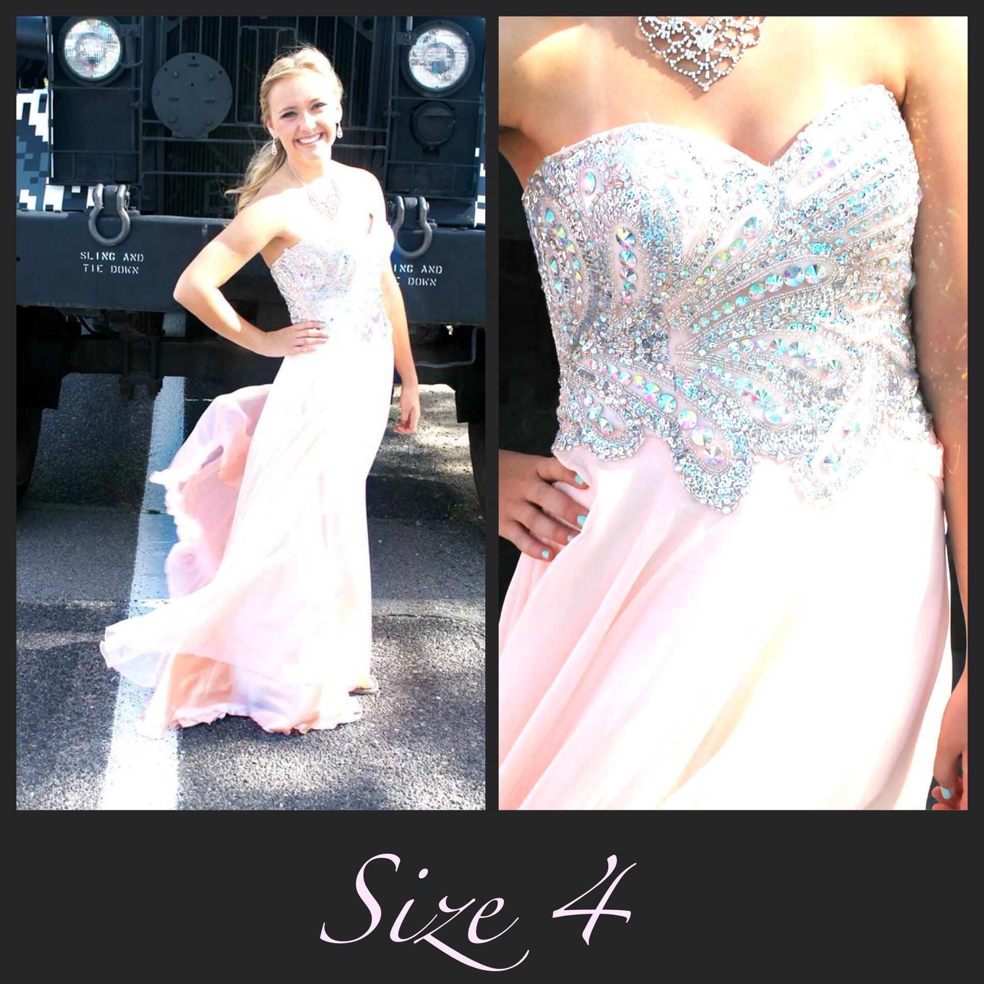 Light Pink Long Formal Flowy Gown Prom Dress Available At Bling It