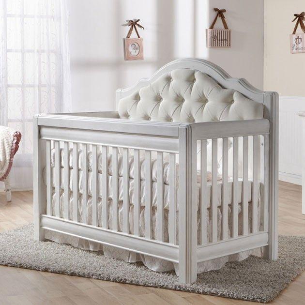 Pali Cristallo Convertible Crib In Vintage White Luxury Baby