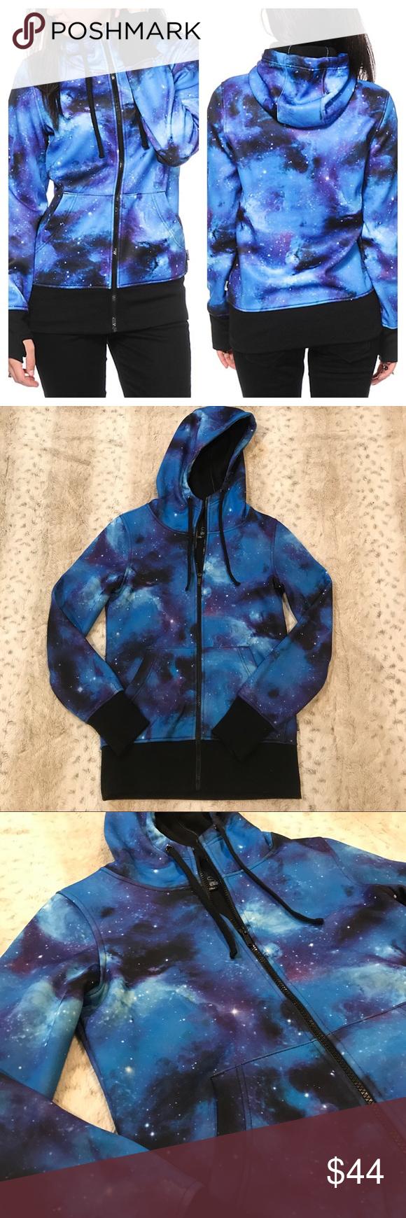 Empyre galaxy fleece jacket galaxy print hoods and conditioning
