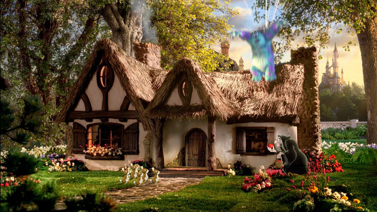Dwarf house but other scenes were filmed inside like the for Snow white cottages los angeles