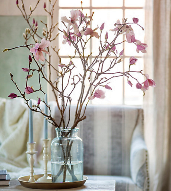 Home Furnishing Websites: Tulip Magnolia Branches // Spring Blossoms