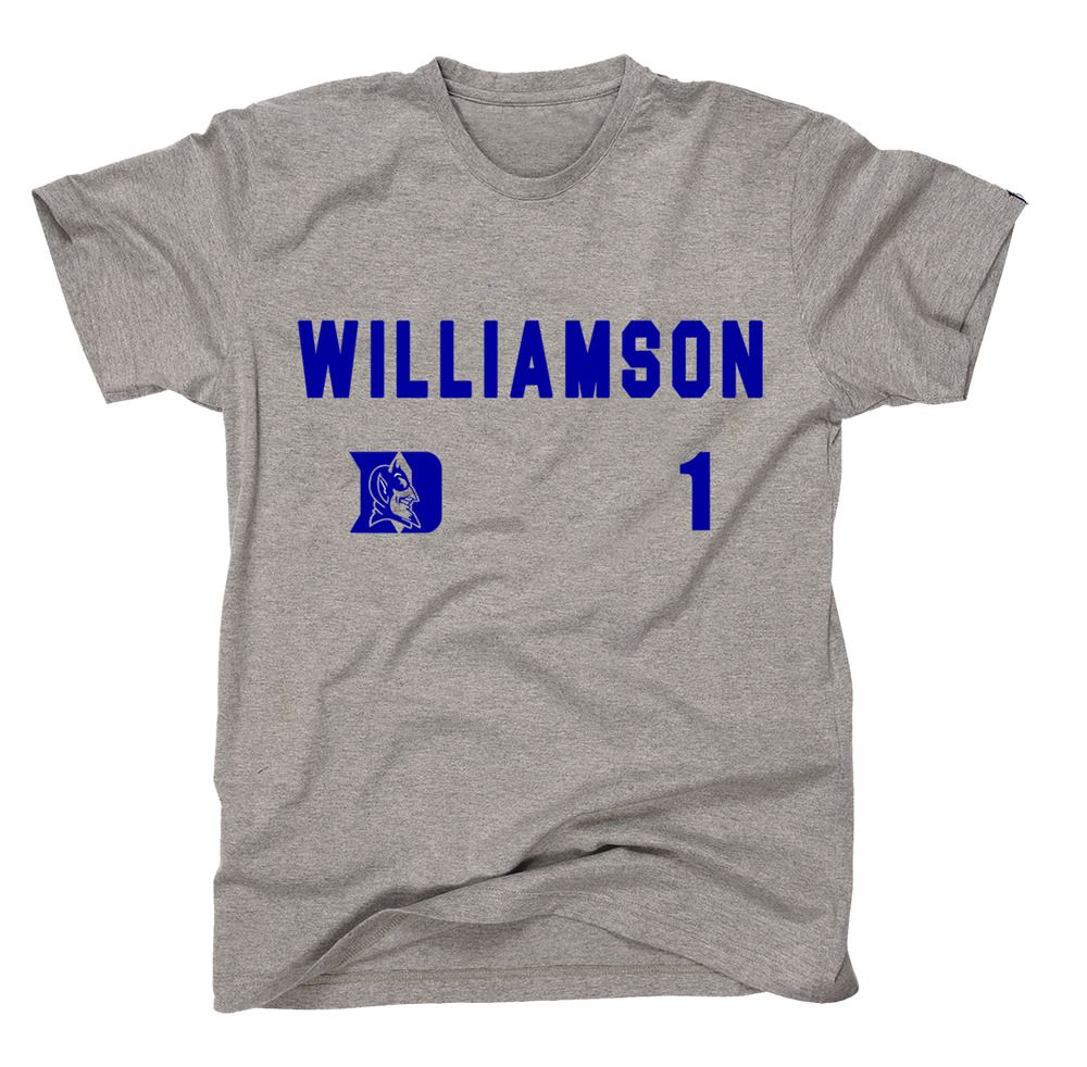 ba1aaa539040 Zion Williamson Duke Blue Devils  1 Gray T-Shirt Basketball NCAA S-4XL   fashion  clothing  shoes  accessories  mensclothing  shirts (ebay link)