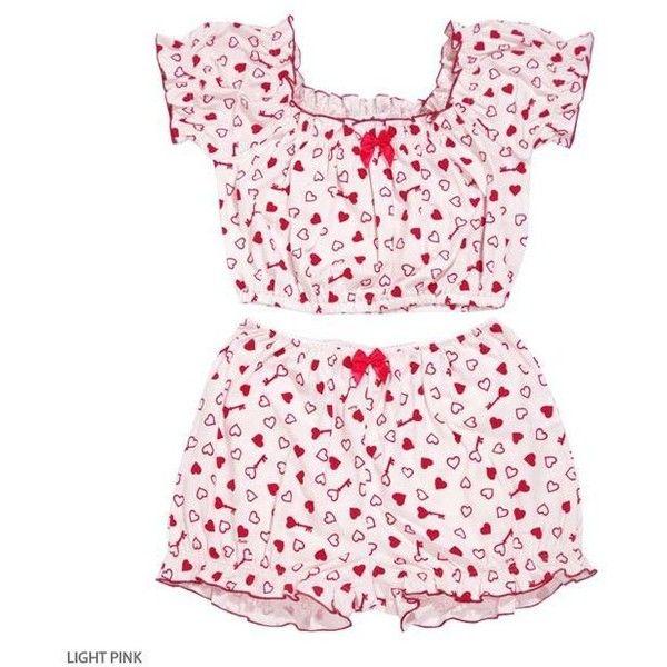HEART KEY set-up ❤ liked on Polyvore featuring intimates, sleepwear, pajamas, cute, katie, pink, set, pink pajamas, pink sleepwear and heart pajamas