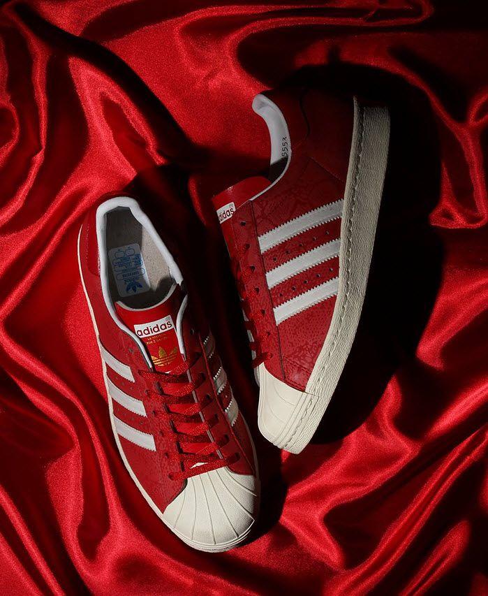 atmos x adidas Originals Superstar 80s G SNK 8 Red3M