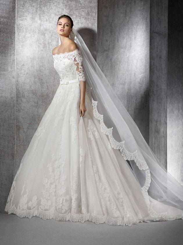 Zureda Princess Dress In Lace Con Imagenes Vestidos De Novia Vestidos De Novia Tul