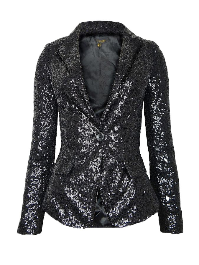 c98a971a71114 all over sequin blazer in black womenu002639s plus size clothes uk sequin  blazer for women 675x900