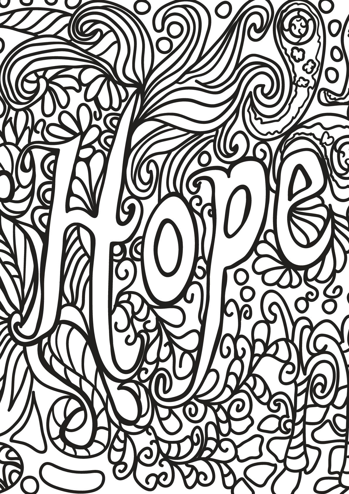 Free Book Quote 5 Hope From The Gallery Quotes Source Printable Coloring Pages For Adults By P Quote Coloring Pages Coloring Book Quotes Coloring Pages [ 1684 x 1191 Pixel ]