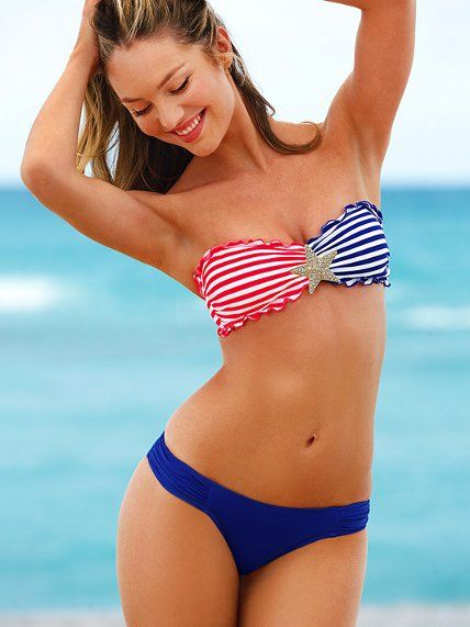 68cdc0f46320a Beach Sexy NEW! Stripe Bandeau Top #VictoriasSecret http://www. victoriassecret