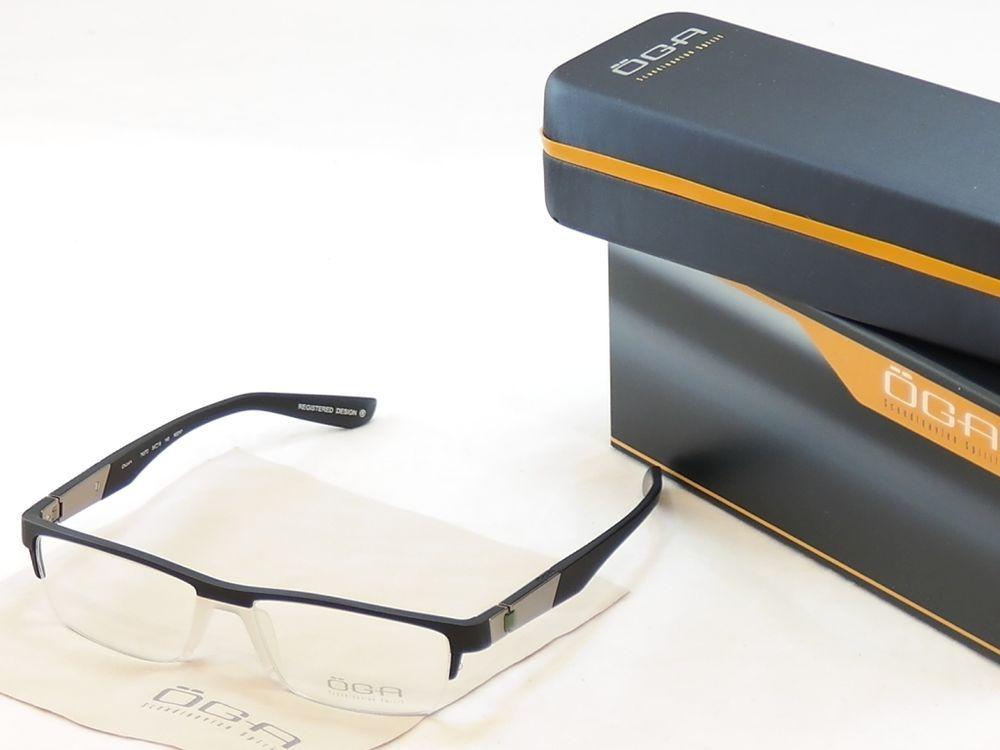 32238f6e726 OGA Morel Eyeglasses Frame 74570 NG041 Matt Black Plastic France Made  54-16-140  OGA