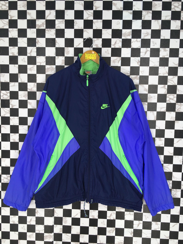 eb7d76fdb4 NIKE Multicolor Jacket Windbreaker Large Vintage 1990's Nike Swoosh ...