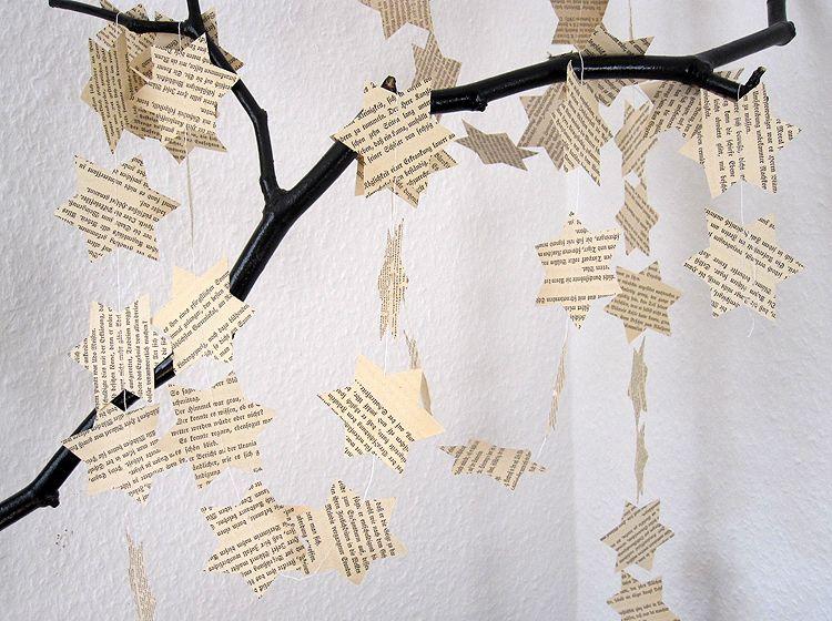 Stern girlande in fraktur serif xmas von renna weihnachtsdeko weihnachten dawanda - Weihnachtsdeko girlanden ...