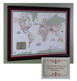 Framed personalized world traveler map seti know a couple of framed personalized world traveler map seti know a couple of folks i gumiabroncs Image collections