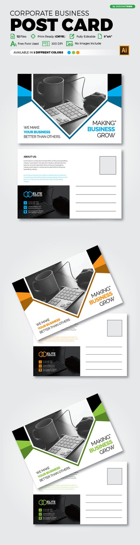 Best Post Card 8 CreativeWork247 - Fonts, Graphics, Themes ...