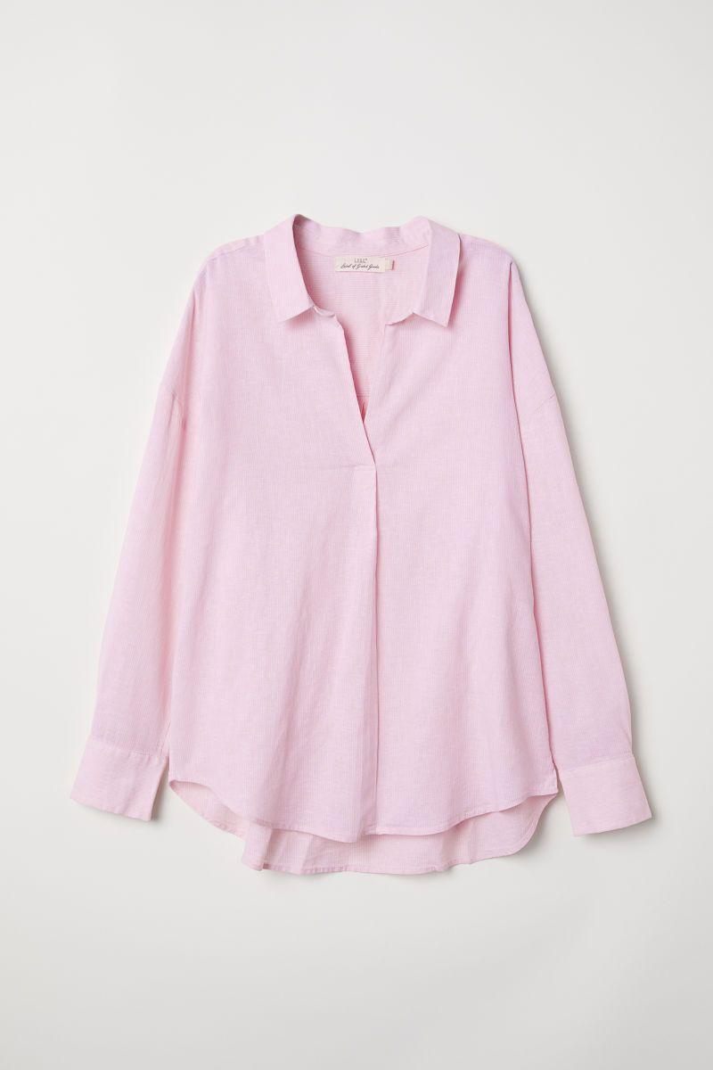 Camisa oversize con lino  a2de6595b0737
