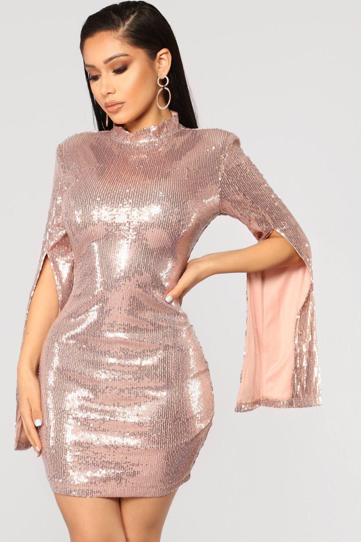 Precious Heirloom Sequin Dress Rose Gold Sequin dress