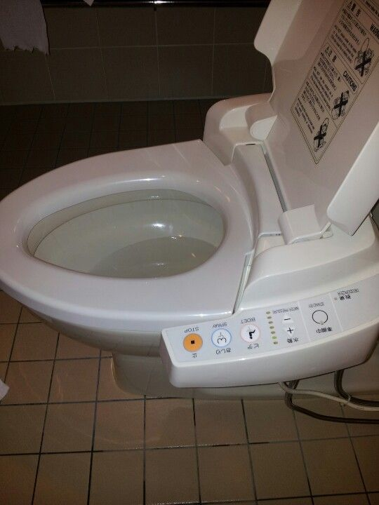 Japanese toilet heated, ass shower, flushing sounds that cover any ...