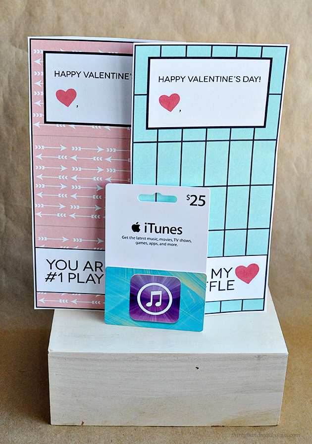 image relating to Itunes Printable Gift Card referred to as Printable iTunes Present Card Template for Valentines Working day