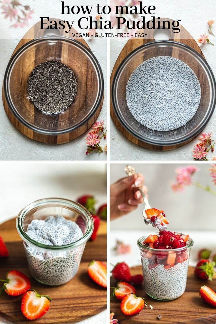 How to make easy Chia Pudding - vegan + gluten-free | TWO SPOONS #chiaseedpudding