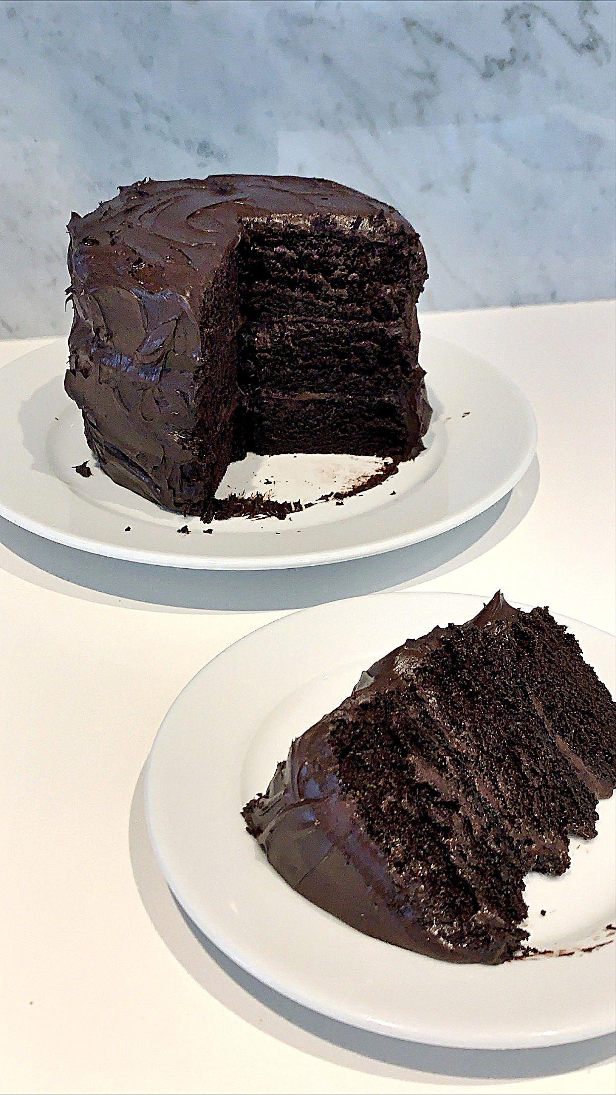 Matilda Chocolate Cake Recipe with Glossy Chocolate Sour Cream Frosting