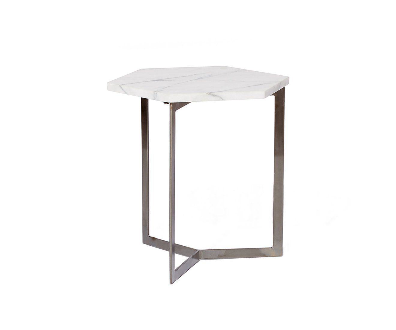 Hex Side Table Grid Frame Coffee Table Drum Coffee Table Box - Hex coffee table