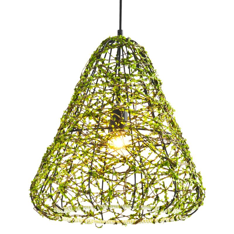 Pastoral style creative rattan chandeliers modern artistic metal pastoral style creative rattan chandeliers modern artistic metal hanging light restaurant aisle bar cafe lighting fixtures aloadofball Image collections