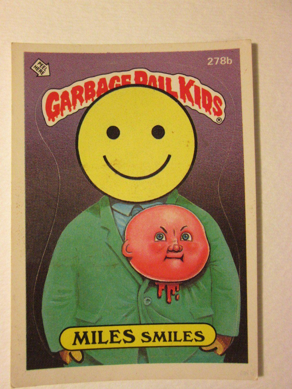 Garbage Pail Kids Trading Card 1986 Miles Smiles 278b Garbage Pail Kids Cards Garbage Pail Kids Kids