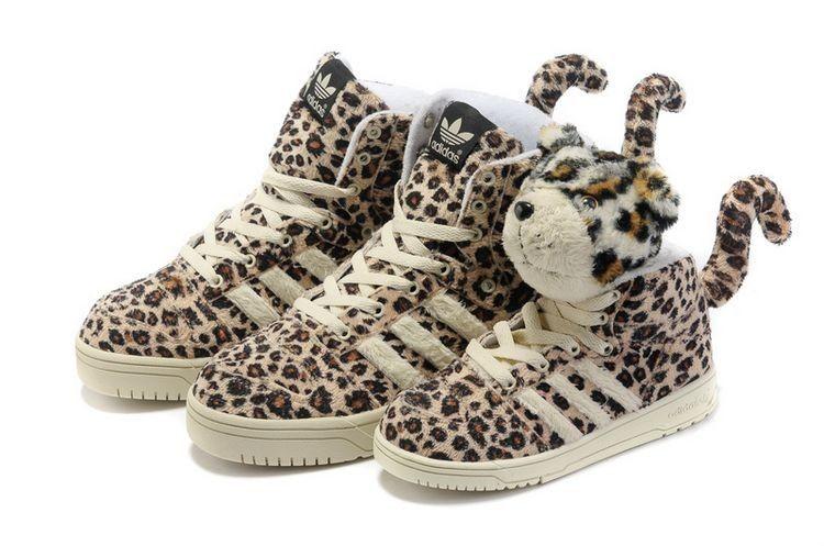 e56348d8d006 Women adidas Originals x Jeremy Scott Leopard Tail Sneakers For  95.99
