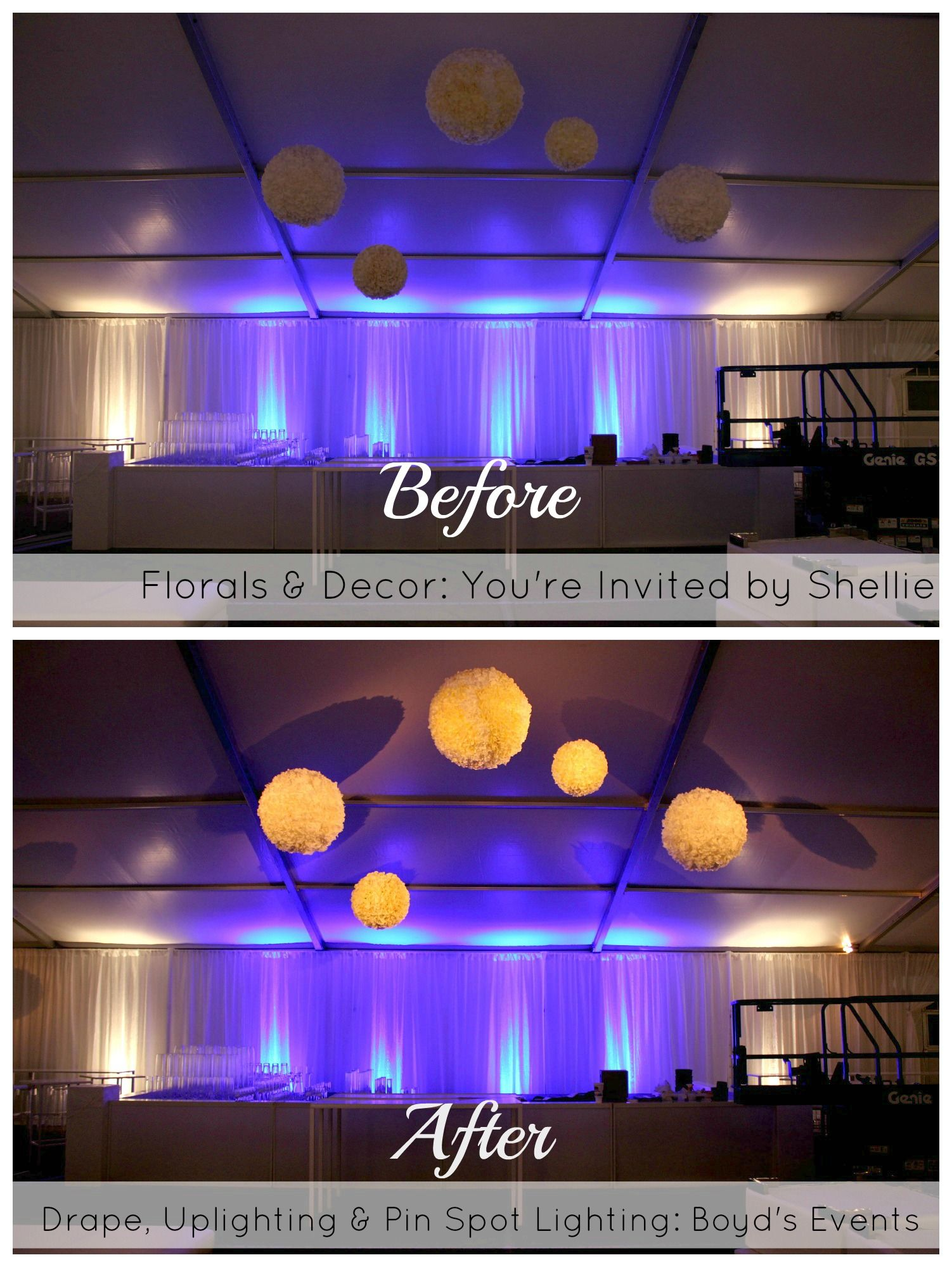 Lighting can make all the difference!  Call Boyd's events for more information! 432-262-1951