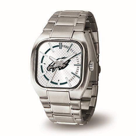 "Shop Officially Licensed NFL Team Logo ""Turbo Series"" Silvertone Bracelet Watch - Philadelphia Eagles, read customer reviews and more at HSN.com."