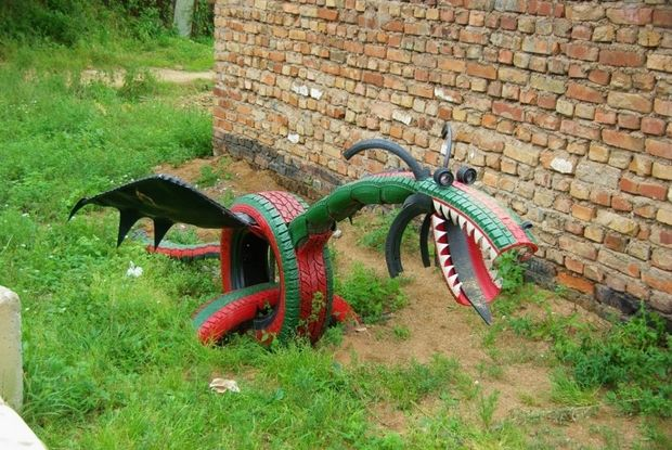 Tire Recycling Ideas 23 Animal Shaped Garden Decorations Old