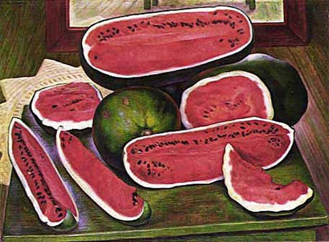 Obra De Diego Rivera Las Sandias 1957 Coleccion De Dolores