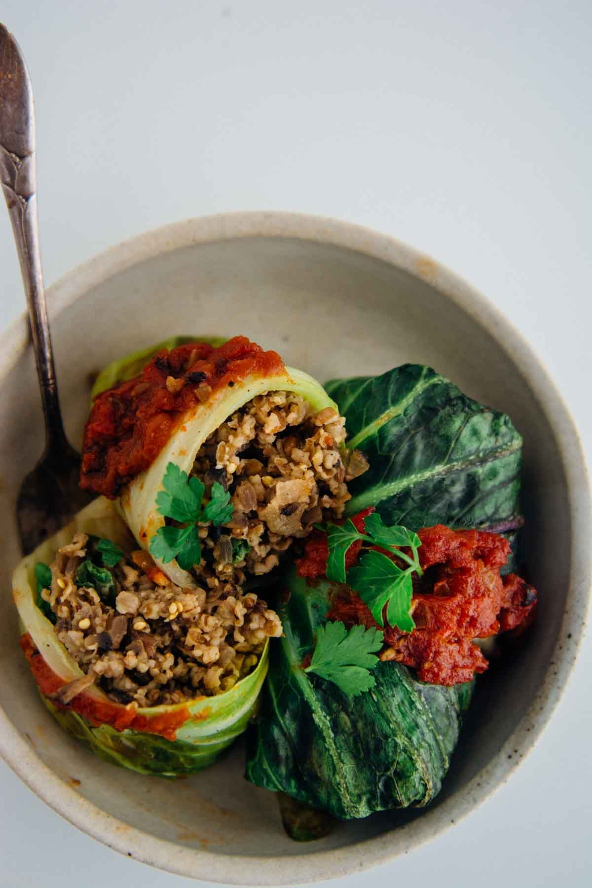 Vegan Stuffed Cabbage Rolls