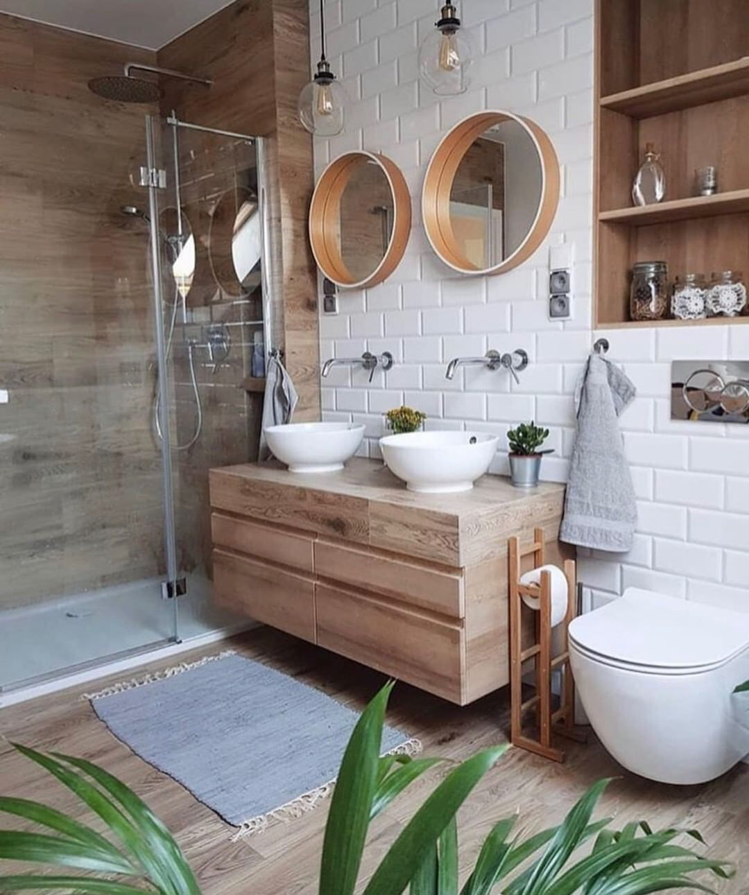 Chamberlain Real Estate Group On Instagram Would You Love This Bathroom Photocred Interiordesign Ga Big Bathrooms Wooden Vanity Unit Bright Bathroom