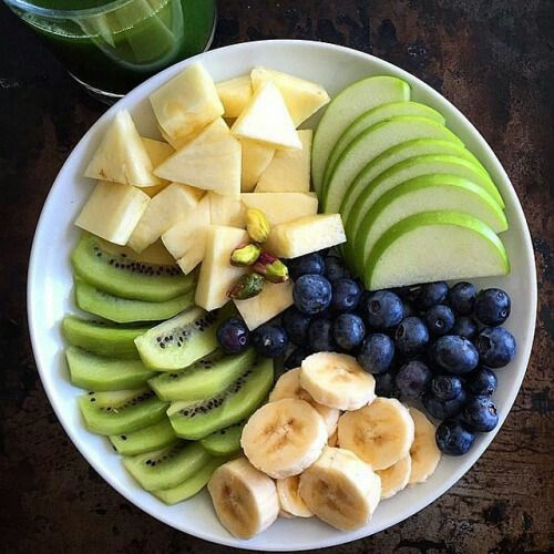 Good Morning Delicious Fruit For Breakfast Fruit Organic Lovefood Apples Grapes Organicfood Kiwi Banana Befit Fabfashi Yummy Food Food Workout Food